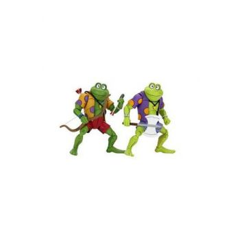 Les Tortues ninja pack 2 figurines Genghis & Rasputin Frog 18 cm
