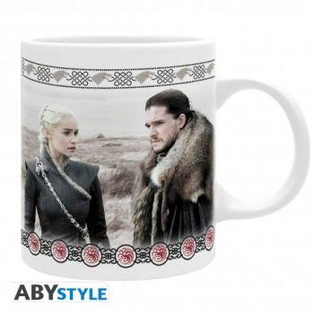 GAME OF THRONES - Mug - 320 ml - Jon & Daenerys - Stark & Targaryen