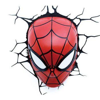 Marvel lampe 3D LED Spiderman --- EMBALLAGE ENDOMMAGE