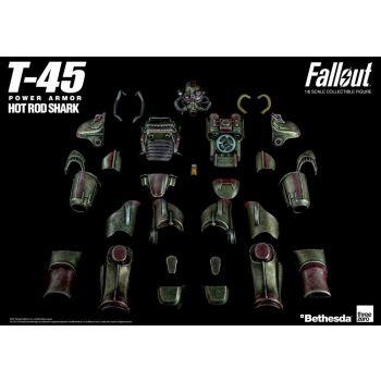 Fallout accessoires pour figurine 1/6 T-45 Hot Rod Shark Armor Pack