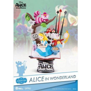 Alice au pays des merveilles diorama PVC D-Select 15 cm