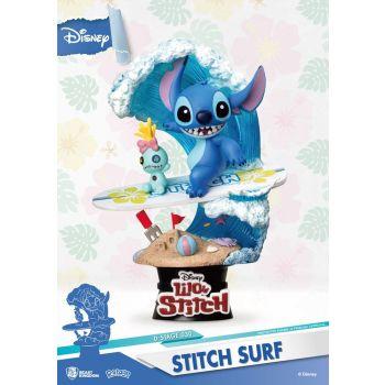 Disney Summer Series diorama PVC D-Stage Stitch Surf 15 cm