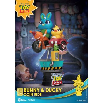 Disney Coin Ride Series diorama PVC D-Stage Bunny & Ducky 16 cm
