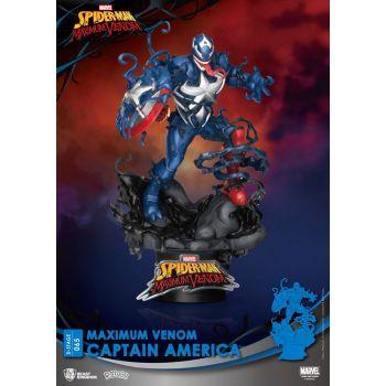 Marvel Comics diorama PVC D-Stage Maximum Venom Captain America 16 cm