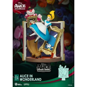 Disney diorama PVC D-Stage Story Book Series Alice in Wonderland New Version 15 cm