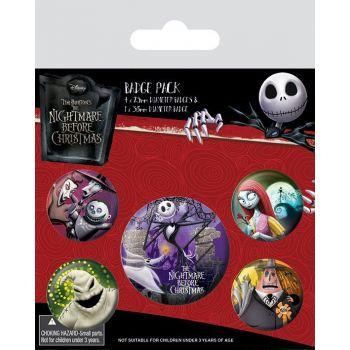 L´étrange Noël de Mr. Jack pack 5 badges Characters