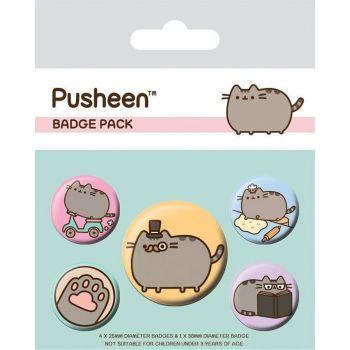 Pusheen pack 5 badges Fancy