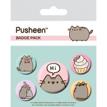Pusheen pack 5 badges Pusheen Says Hi