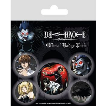 Death Note pack 5 badges Characters