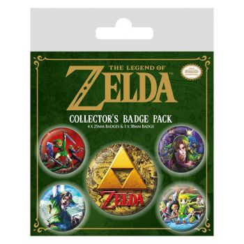 Legend of Zelda pack 5 badges Classics