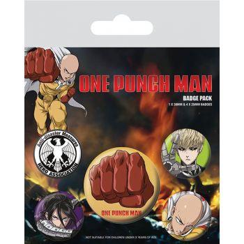 One Punch Man pack 5 badges Destructive