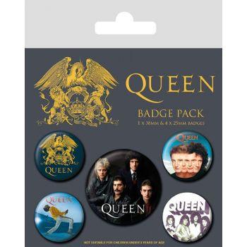 Queen pack 5 badges Classic
