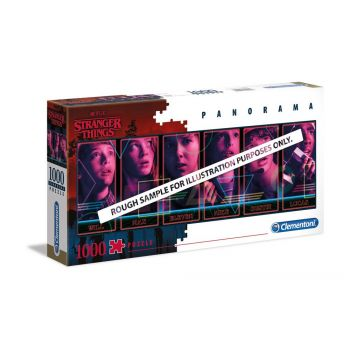 Stranger Things Puzzle Panorama Characters