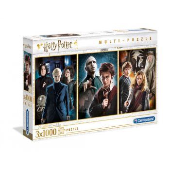 Harry Potter pack 3 Puzzles Characters (3 x 1000 pièces) --- EMBALLAGE ENDOMMAGE