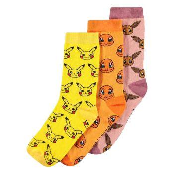 Pokémon pack 3 paires de chaussettes Three Icons 39-42