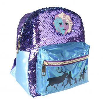 La Reine des neiges 2 sac à dos paillettes Casual Fashion Elsa 21 x 26 x 10 cm
