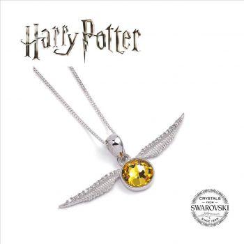 Harry Potter x Swarovski pendentif et collier Golden Snitch
