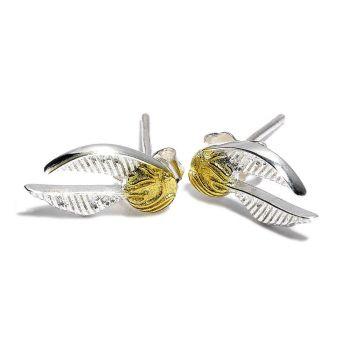Harry Potter boucles d'oreille Golden Snitch (plaqué argent)