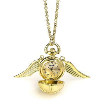 Harry Potter collier avec horloge Vif d'or (plaqué or)