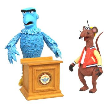 The Muppets Select pack 2 figurines Sam the Eagle & Rizzo the Rat 13 cm