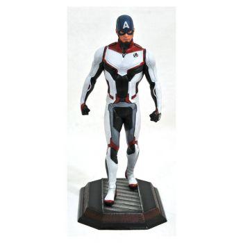 Avengers Endgame Marvel Movie Gallery statuette Team Suit Captain America Exclusive 23 cm --- EMBALLAGE ENDOMMAGE