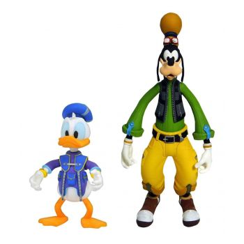 Kingdom Hearts 3 Select pack 2 figurines Goofy & Donald 10 - 18 cm  --- EMBALLAGE ENDOMMAGE
