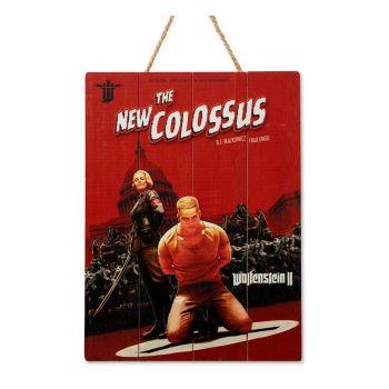 Wolfenstein tableau en bois WoodArts 3D The New Colossus 30 x 40 cm