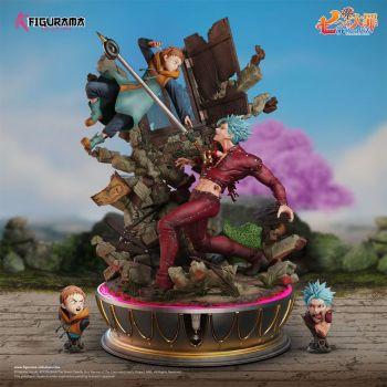 Seven Deadly Sins diorama Elite Fandom 1/6 Ban vs King 54 cm
