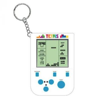 Tetris console de jeu portable avec porte-clés Mini Retro