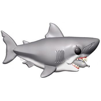 Les Dents de la mer Oversized POP! Movies Vinyl figurine Jaws with Diving Tank 15 cm