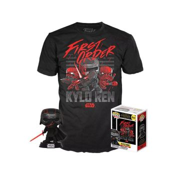 Star Wars Episode IX POP! & Tee set figurine et T-Shirt Kylo Ren (Supreme Leader) heo Exclusive