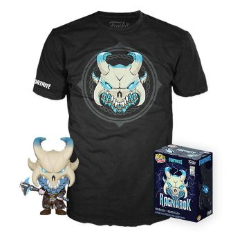 Fortnite POP! & Tee set figurine et T-Shirt Ragnarok