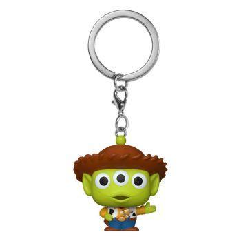 Toy Story porte-clés Pocket POP! Vinyl Alien as Woody 4 cm