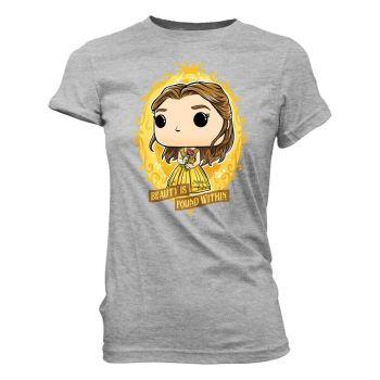 Disney Loose POP! Tees T-Shirt Belle In Crest