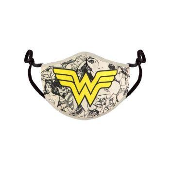 Wonder Woman Masque en tissu Comic Logo