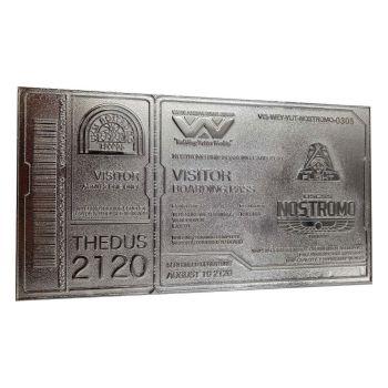 Alien réplique Nostromo Ticket Limited Edition (plaqué argent)