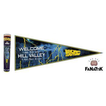 Retour vers le Futur fanion Welcome To Hill Valley