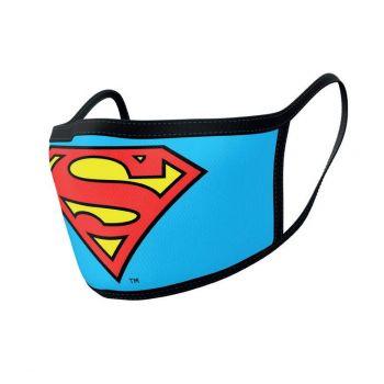 Superman pack 2 Masques en tissu Logo