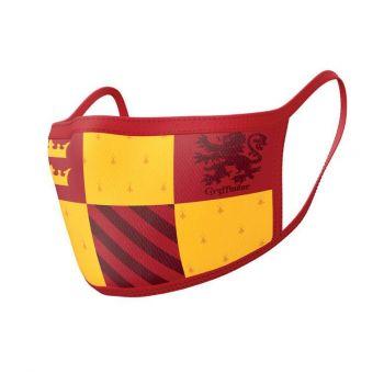 Harry Potter pack 2 Masques en tissu Gryffindor