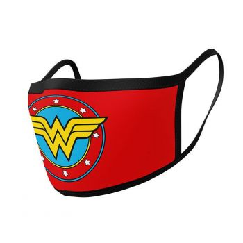 Wonder Woman pack 2 Masques en tissu Logo