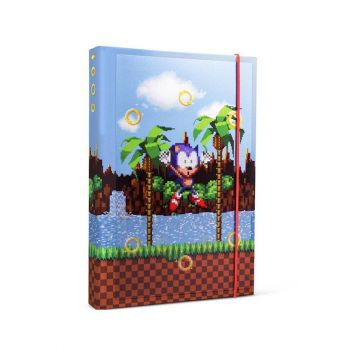 Sonic The Hedgehog cahier A5 Rings