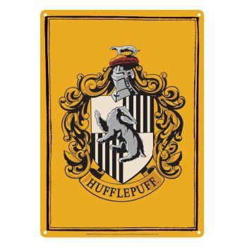 Harry Potter panneau métal Hufflepuff 21 x 15 cm