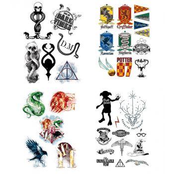 Harry Potter set 35 tatouages temporaires