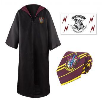 Harry Potter Budget Line set robe, cravate & tatouage Gryffindor