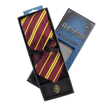 Harry Potter set cravate & badge Gryffondor