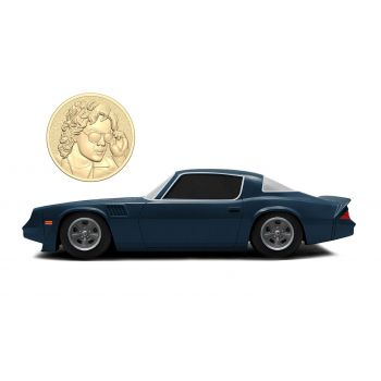 Stranger Things 1/24 Billy's 1979 Chevy Camaro Z28 métal avec pièce de collection