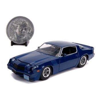 Stranger Things 1/24 Billy's 1979 Chevy Camaro Z28 métal avec pièce de collection --- EMBALLAGE ENDOMMAGE