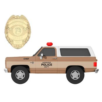 Stranger Things 1/24 Chief Hopper's 1980 Chevy K5 Blazer métal avec badge