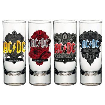 AC/DC Set 4 verres à liqueur Black Ice