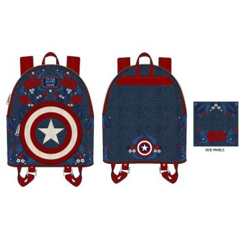 Marvel by Loungefly sac à dos Captain America 80th Anniversary Floral Shield